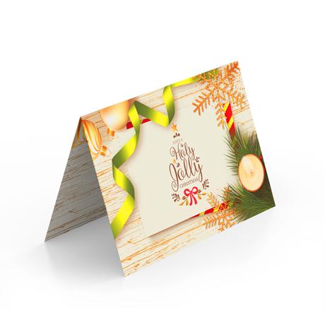 Новогодние открытки со сгибом