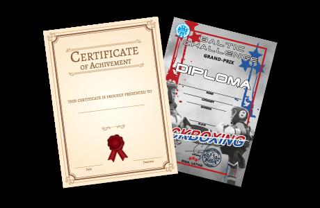 Diplomas, godas raksti