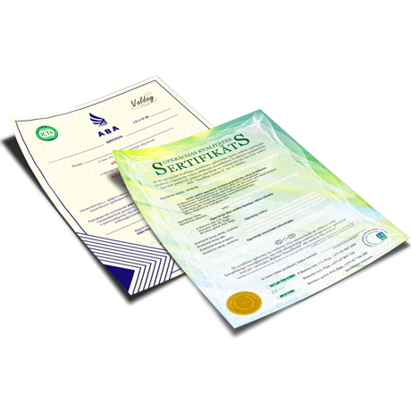 Exclusive letterheads printed one side