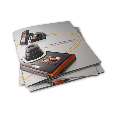 Kvadrātveida skavotas brošūras