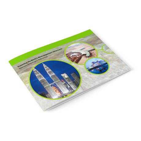 Горизонтальные брошюры на скобах
